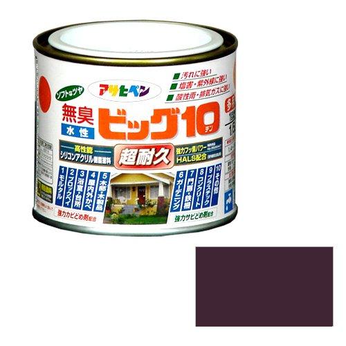 アサヒペン 無臭 水性ビッグ10 ブラウン 1/5L