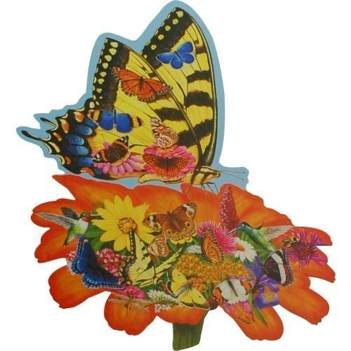 Bits and Pieces Shaped Puzzle by Jack Williams Butterfly Landing 750 Pieces by