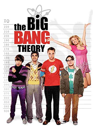 lubenwei The Big Bang Theory Poster Movie Wall Stickers White Coated Prints High Definition Clear Picture Home Decoration 40x60cm No frame AT-473