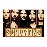 Scorpions Hard Rock Band Heavy Metal Canvas Poster Wall Art