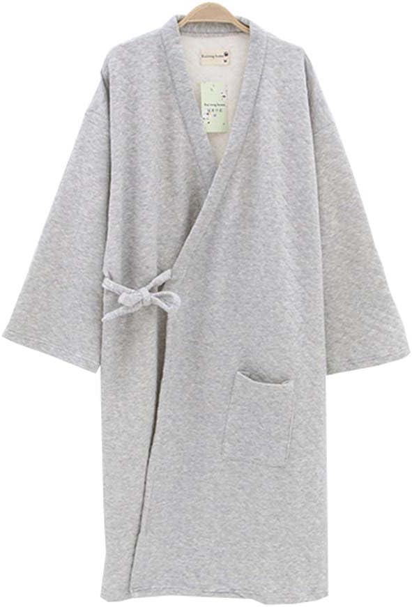 DRAGON SONIC Men's Winter Kimono Pajamas Thicker Warm Winter Japanese Style Robes,A1