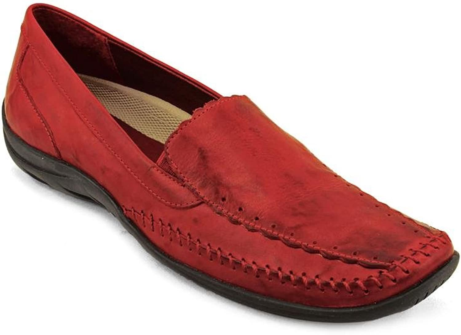 Walking Cradles Womens Tippy Leather Closed Toe Loafers