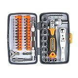 HUIJUNWENTI 38pc Precision Ratchet Destornillador Set de bits de Destornilladores magnéticos Kit de Herramientas de reparación electrónica para teléfono portátil Watch (Color : 2880A)