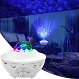 LBell Star Projector Night Light, 2 in 1 Starry Night Light Lamp & Ocean Wave Projector with Remote Control 10 Colors Changing Music Bluetooth Speaker Timer for Kids Adults
