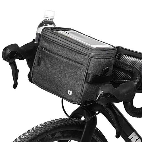 LXDDP Vélo Guidon Sac Étanche Vélo Panier Cadre Avant Top Tube Poche Sac Rangement Mini Épaule Sac À Main Sac À Dos pour Hommes Femmes Vélo Accessoires