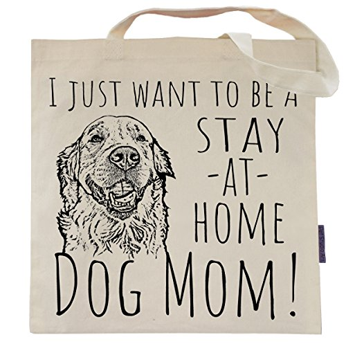 Stay At Home Dog Mom Tote Bag - by Pet Studio Art