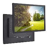Hyuduo1 Monitor Industriale Durevole Fullmetal HD da 15 Pollici 1024x768 HDMI/VGA/AV/BNC/USB G15 (V59) (100-240 V), per PC, TV, Fotocamera, Sicurezza, Drone, Raspberry Pi.(EU)