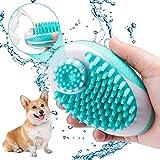 Domipet Haustier Massage Badebürste Hundebürste Katzenbürste, Fellpflege Bürste Hund mit Massage...
