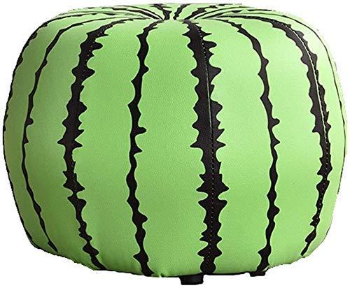 LINQ Cartoon Obsthocker Fußhocker, PU Skin Kinder Spielzeugwechsel Schuhbank Massivholz Füße, Wohnzimmer Dekoration Möbel (Farbe: 8) Qianmianyuan (Color : 8)