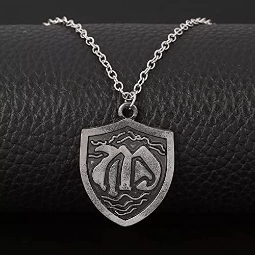 Halskette mit Anhänger für Herren Drachen Anhänger Halskette Männer Anime Die Sieben Todsünden Choker Dragon Nanatsu no Taizai Schmuck Zubehör Geschenk für Ehemann Vater Freund Geburtstagsgeschenk