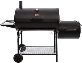 Char-Griller Smokin' Champ Charcoal Grill Horizontal Smoker in Black