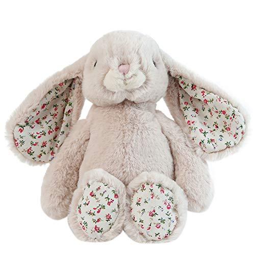 Dilly dudu Blossom Bunny Rabbit Stuffed Animal Plush Toy Best Gifts 10-Inch?Beige?