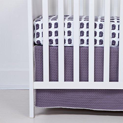 Flink Organic Crib Skirt in Plum