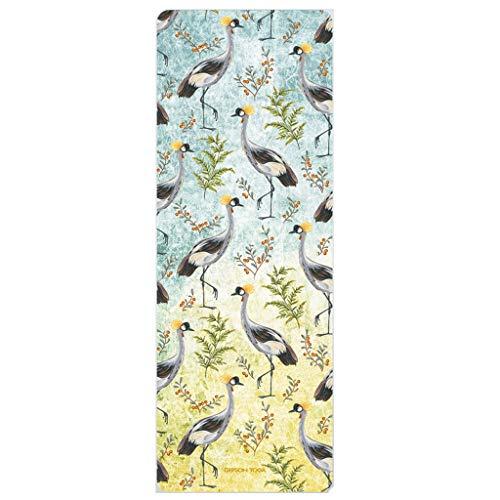 hsj LF- Esterilla de yoga de 1,5 mm para mujer, de goma natural, profesional, antideslizante, plegable, para taller, toalla de tienda, manta fina antideslizante (color: A)