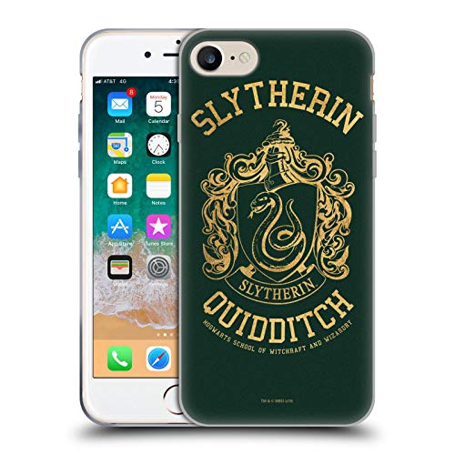 Head Case Designs Offizielle Harry Potter Slytherin Quidditch Deathly Hallows X Soft Gel Huelle kompatibel mit Apple iPhone 7 / iPhone 8 / iPhone SE 2020