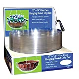 CWP HB-1214 759188121440 Wire Coco Hanging Basket Drip Pan, 12-Inch/14-Inch, Clear, Pack