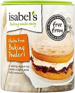 Isabels La Levadura En Polvo Leudante Esencial De Isabel Como Pasteles Y Galletas 100g (Paquete de 6)