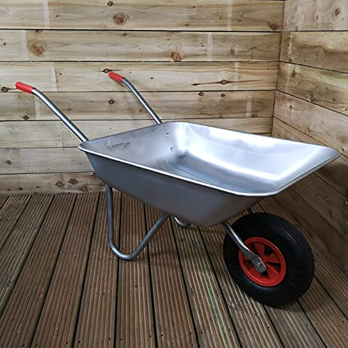 Samuel ALEXANDER 65 Litre 60kg Capacity Galvanised Metal Garden Wheelbarrow...