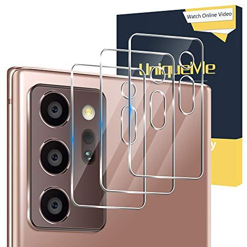 UniqueMe [3 Pack] Compatible con Samsung Galaxy Note 20 Ultra 5G / 4G 6.9 Pulgada Protector de Lente de cámara, Vidrio Templado [9H Dureza] HD Film Cristal Templado