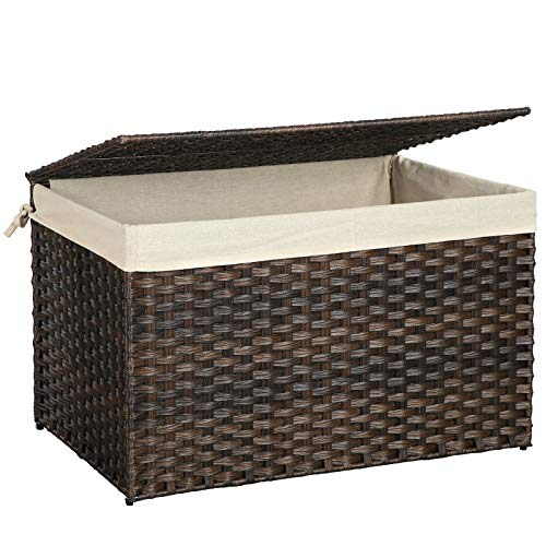 small wicker basket with liner - 1
