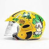 Tingxx Cartoon Children Roller Skating Helmet Electric Bicycle Riding Helmet-Yellow_Calf