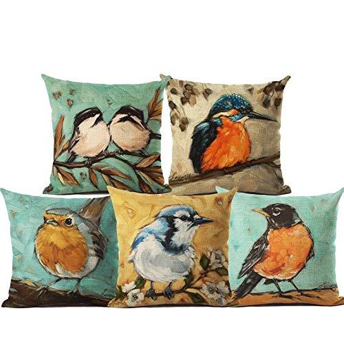 "AEROHAVEN™ Set of 5 Multi Colored Decorative Hand Made Velvet Cotton Cushion Covers 12"" x 12"" (30cm x 30cm)"