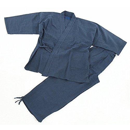 Edoten Samue Ropa de Trabajo para Hombre Japón Kimono Colcha Sashiko (Tradicional Japonés Bordado a Mano) Ropa de Trabajo DIY Chaqueta Pantalones Pantalones