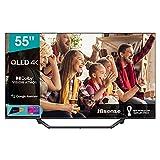Hisense 55' QLED 4K 2021 55A78GQ, Quantum Dot, Smart TV VIDAA 5.0, HDR Dolby Vision, IPS, Audio...