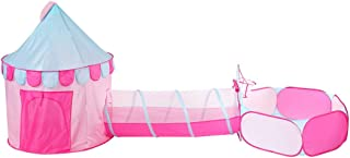 ca4f25edbfd4b9 Tente Enfant Fille Princesse Tente de Jeu pour Enfants Tunnel Pop Up Ball  Pit Pool Maison