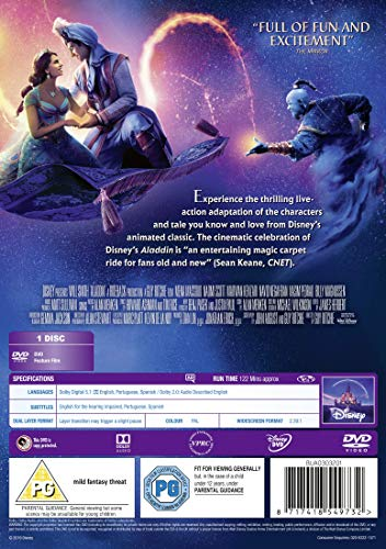 Aladdin Live Action [DVD] (UK Edition) [2019]