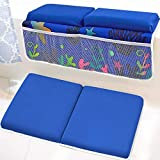 Baby Bath Kneeler with Elbow Baby Rest Pad Set Kids Memory Foam Anti Slip Bath Mat Kneeling Pad Diving Material Folding Thick Knee Pads for Baby Bath Support