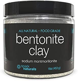 Spark Naturals- Bentonite Clay Powder Food Grade Organic Internal Detoxifying- Facial Mask Pore Minimizer | For Internal Detox, Face Care, Masks, Deep Cleansing, Pore Minimizer, Hair Growth.