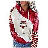 Eogrokerr - Sudaderas para mujer, manga larga, sudaderas con capucha, bolsillos con cremallera y capucha, color rojo