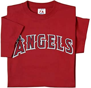 Los Angeles Angels of Anaheim (ADULT MEDIUM) 100% Cotton Crewneck MLB Officially Licensed Majestic Major League Baseball Replica T-Shirt Jersey