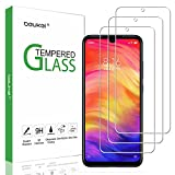 (3 Pack) Beukei Compatible for Xiaomi Redmi Note 7 and Redmi Note 7 Pro Screen Protector Tempered Glass,Full Screen Coverage, Touch Sensitive,Case Friendly, 9H Hardness