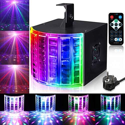 LED PAR Licht Lunsy 3 Modus DJ lights LED Stroboskop Licht DMX Controller Lichteffekte Partybeleuchtung Strahler Blitzer Bühnenbeleuchtung mit Fernbedienung für Party Bar Geburtstag