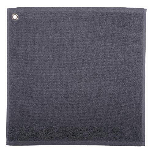 Winkler - Essuie-mains carré Curl avec œillet d'attache – 50x50 cm – Tissu éponge 100% coton absorbant – Serviette à vaisselle, chiffon de nettoyage