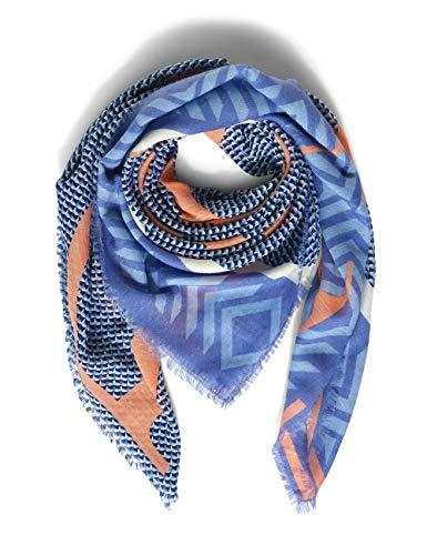 Street One Damen Square Mode-Schal, warm Blue, A