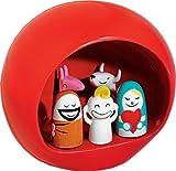 Alessi AMGI10 R - Juego de figuritas de belén, Color Rojo
