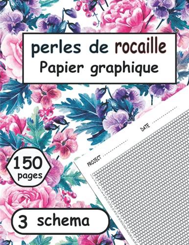 Cahiers de Motifs de perles de rocaille: Papier graphique perlé pour concevoir vos propres motifs de perles uniques, excellent cadeau pour femmes et hommes, 3 schema.