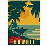 Yirenfeng USA CITY Vintage Poster Hawaii Design Papier