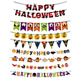 8 Pack Halloween Banner Decorations, Antetek...