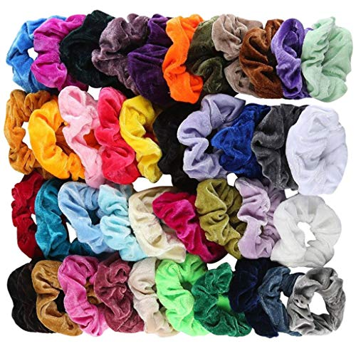 Scrunchy Hair Tie, 41 Pcs Velvet Elastic Hair Bands for Women or Girls Hair Accessories