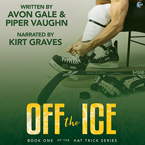 Off the Ice     Hat Trick, Book 1              By:                                                                                                                                 Avon Gale,                                                                                        Piper Vaughn                               Narrated by:                                                                                                                                 Kirt Graves                      Length: 7 hrs and 53 mins     80 ratings     Overall 4.2
