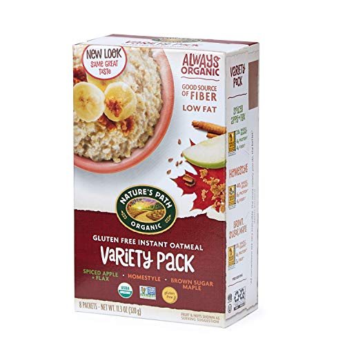 Nature's Path Organic Gluten Free Instant Oatmeal, Variety Pack, 48 Packets (6 Boxes, 8 Packets Each)