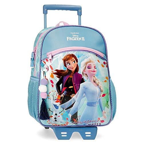 Disney Frozen Awesome Moves Mochila con Carro, 33cm, Azul