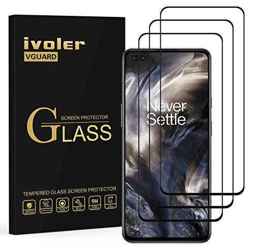 ivoler 3 Stücke Panzerglas Schutzfolie für OnePlus Nord 5G, [Volle Bedeckung] Panzerglasfolie Folie Hartglas Gehärtetem Glas BildschirmPanzerglas für OnePlus Nord 5G