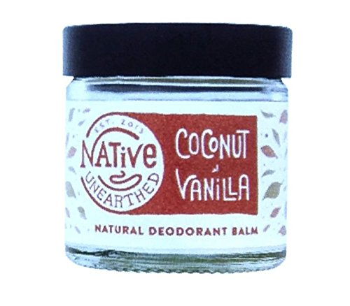 Native Unearthed Natuurlijke Vanilla& Kokosnoot Deodorant Balsem 60ml Pack of 2