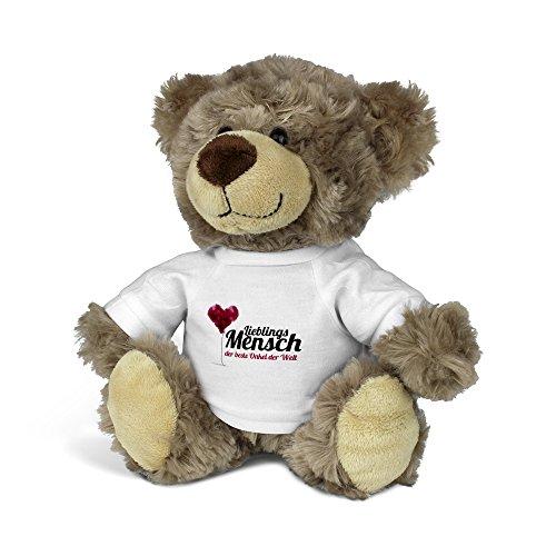 printplanet® Teddybär mit Namen der Beste Onkel der Welt - Kuscheltier Teddy mit Design Lieblingsmensch