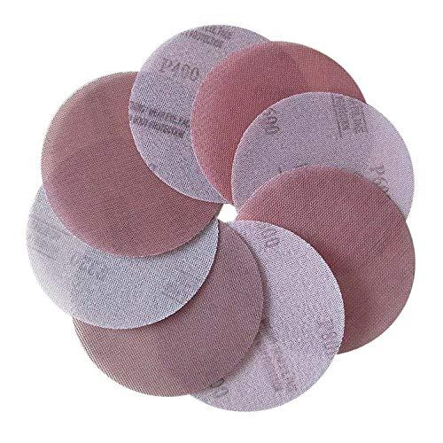 WHLEHL Schuurpapier 10 Stks Mesh Doek Schuurschijf Stofvrij Schuurschijven 5 Inch 125mm Anti-Blocking Droog Slijpen Schuurpapier 80 tot 1000 Grit A80